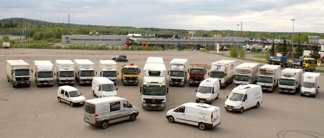 Monipuolinen kuljetuskalusto